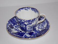 ROYAL CROWN DERBY Mikado Blue/White Cup and Saucer - England