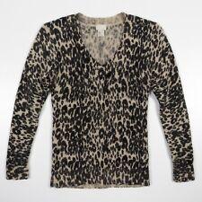 d5dc73abacbe H & M Sweater Angora & Wool Soft Leopard V-Neck Ribbed Cuffs & Hem