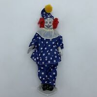 Tall Standing Creepy Vintage Clown with Polka Dot Suit Red Hair Knickerbocker