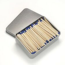 Ohio Blue Tip Safety Matches 2 Tins Light On Tin Container Made In USA New