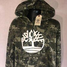 NWT Timberland Camo Hoodie Size XL Green Camouflage Hooded Sweatshirt $78
