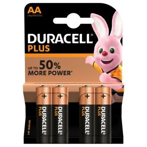Duracell Plus Power AA LR6 Batteries   4 Pack