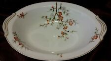 Vintage noritake brinda brown, orange,flower service oval bowl
