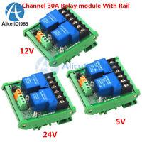 2 Channel 30A DC 5V 12V 24V Relay Module Optocoupler Isolation High Low Trigger