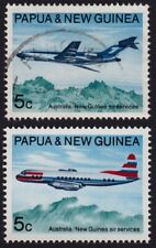 /PNG 1970 Air Services MNH/USED(damaged) Sc#306-307 @E3289