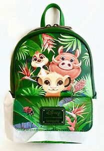 Disney Loungefly The Lion King Mini Backpack Tropical Trio Bag Rucksack BoxLunch