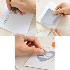 Cool 4 pics Scratch Off Sticker Secret Message Stickers Funny Lovely Gift Love
