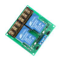 2-Channel 12V 30A Relay Board Module Optocoupler Isolation High/Low Trigger