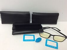 Set of 3 Blue Light Blocking Reading Glasses for computer TV phones w Soft Case