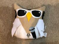 Elvis Owl Plushie Inspired Plush Toy Handmade Soft Stuffed Pillow Doll NWT Fleec