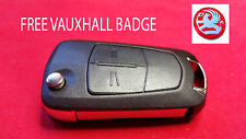 VAUXHALL VECTRA C SIGNUM 2 BUTTON KEY FOB REMOTE FLIP REPAIR CASE + A FREE BADGE