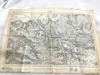 1884 Antico Francese Mappa Lisieux Calvados Normandia 19th Secolo Originale