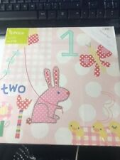 Mamas & Papas Nursery Pink Lemonade Bunny Pack of 2 Canvas' - Internet Return