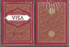 1 DECK VISA red edition playing cards