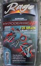 NEW Rage 125 Grain Hypodermic+P Slipcam 2-Blade 1.5