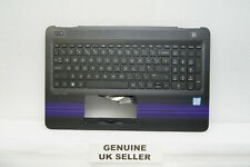 Black & Purple HP Pavilion Notebook 15-AU112na Palmrest Cover UK Keyboard SM723