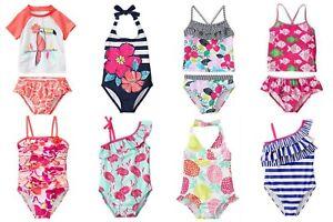 Gymboree NWT Girls UPF 50+ Swimwear Sizes: XS(4), S (5-6), M (7-8) U-Pk