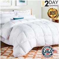 New Queen Size Goose Down Comforter White Blanket Luxury Bedroom Hypoallergenic