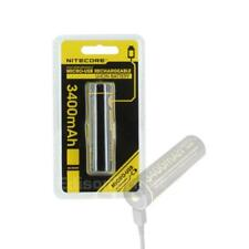 New Nitecore NL1826R 2600mAh  18650 direct USB rechargeable battery with cable