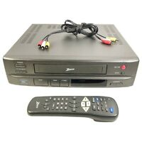 Zenith Stereo VCR VRM4220HF Video Cassette Recorder Player With Remote Tested