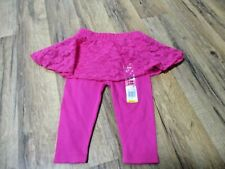 NWT Infant Girls size 3-6 months hot pink leggings w skirt Garanimals
