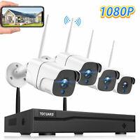 TOGUARD Überwachungskamera 8CH NVR 1080P IR Außen Kamera Sicherheit Systeme WLAN