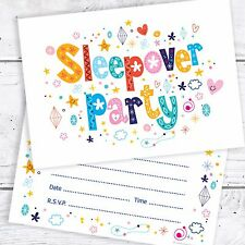 Sleepover Party Birthday Party Invitations - A6 Postcard Size (Pack 10)