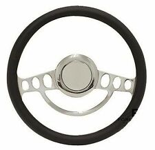 Chrome & Black Steering Wheel w/Full Install Kit for 1968 to1988 Chevy El Camino