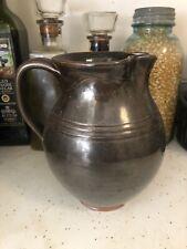 LARGE Jugtown Ware, N.C. - Art Pottery - Pitcher, Frog Skin Glaze