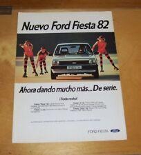 NUEVO FORD FIESTA 82 SALES LEAFLET In Spanish 1982 L S Ghia