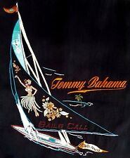 "~TOMMY BAHAMA MENS sz M 100% SILK EMBROIDERED ""SAILS CALL"" S/S SHIRT~ 48"" CHEST"