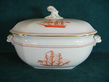 Copeland Spode Red Trade Winds W128 Large Soup Tureen with Lid
