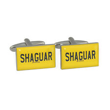 SHAGUAR Coche gemelos De Placa Licencia shagadelic fans amarillo NUEVO EN CAJA