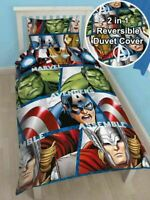 Marvel Avengers 'Shield' Single Duvet Reversible Cover Quilt Bedding Set