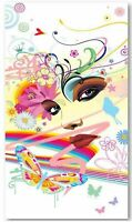 Eye Reilly EYE Funky Beach Pool Bath Towel 75x 150cm Cotton Hearts /& Flowers