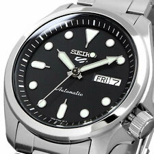 Seiko 5 Sports 40mm Full Stainless Steel Black Dial Automatic Watch - SRPE55K1