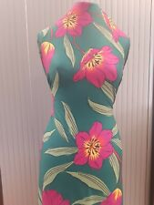 FLORAL Fabric Soft Jersey Spun Polyester Fabric-FREE SAME DAY DISPATCH