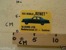 STICKER,DECAL RENET TAXI BEDRIJF SUSTEREN CAR