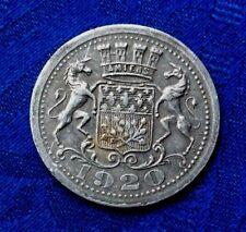 JETON D AMIENS  1920 . 25cts CHAMBRE  DE COMMERCE