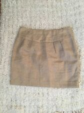Michael Kors Women's Skirt Size 6 Gold Brocade Linen Mini Skirt