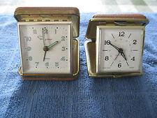 Vintage Travel Clocks Magic Touch & Ingraham Luminous Japan Estate Find