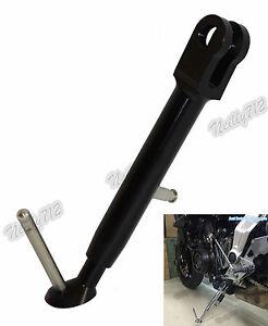 Adjustable Kickstand Side Stand Aluminum Black Fit 2013-2016 YAMAHA MT-07 FZ-07