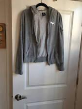 Victoria's Secret Hoodie Sweatshirt Grey Velour Size M PINK Collection