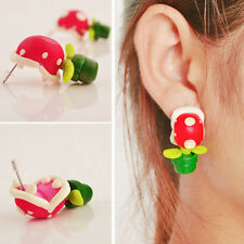 Gothic Women 3D Corpse flower Earring Polymer Clay Ear Stud Xmas Holloween Gifts