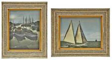 "Vintage 1965 Marshall Field Artist ""Emery Reed"" Framed Nautical Prints"