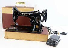Vintage 1956 Singer Model 99 Portable Sewing Machine in Case Works Wells