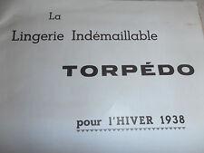 catalogue de lingerie et gant année 1938 - mode ( ref 3 )