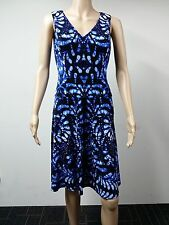 NEW - Anne Klein - Sleeveless Knee Length Dress - Size 4 - Printed Blue - $119