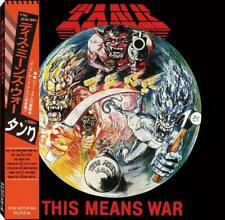 TANK This Means War CD NWOBHM Japanese Limited Edition. NEW!