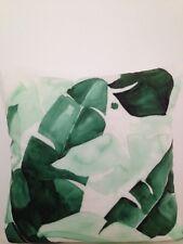 Tommy Bahama Indoor Tropical Banana Palm Leaf Velvet Lumbar Retro Cushion Cover